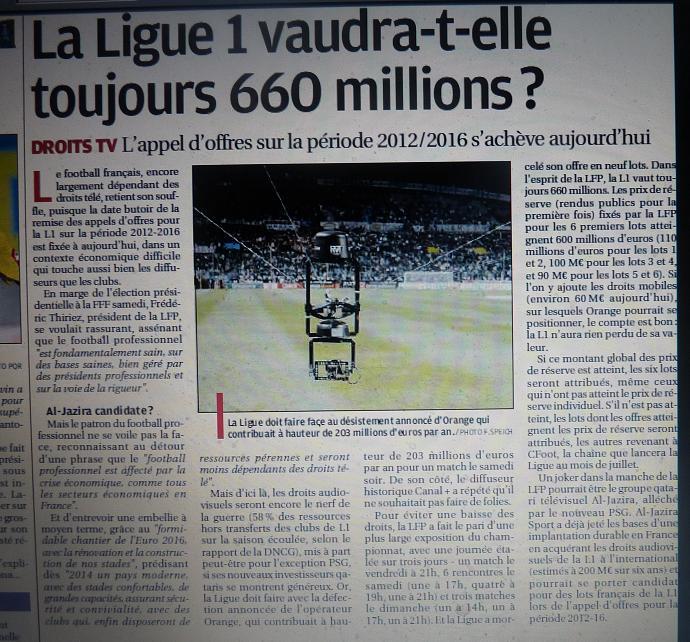 CHAINES DE  FOOT A LA TELE  : CFOOT/ C+ TF1 M6 ET LES AUTRES  - Page 2 748152P1180819