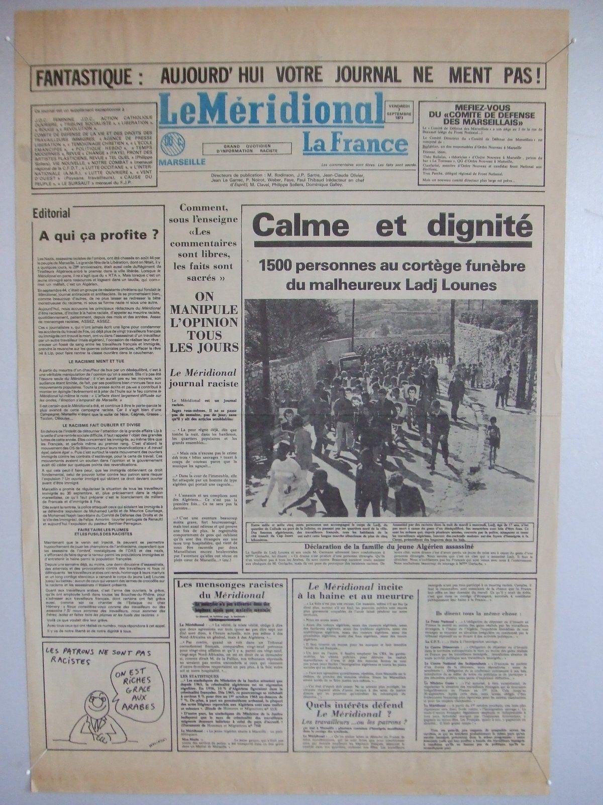"""""""Le Méridional"""" pirate du 7 septembre 1973 749198LEMERIDIONAL"""