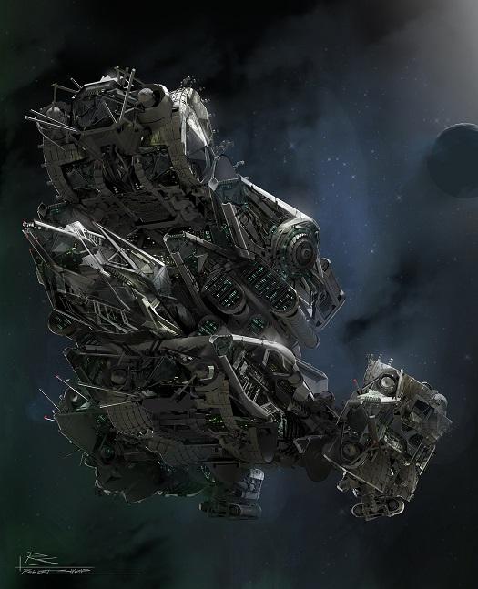 Concept Art des Transformers dans les Films Transformers - Page 3 760403LockdownShip21403881670nightship