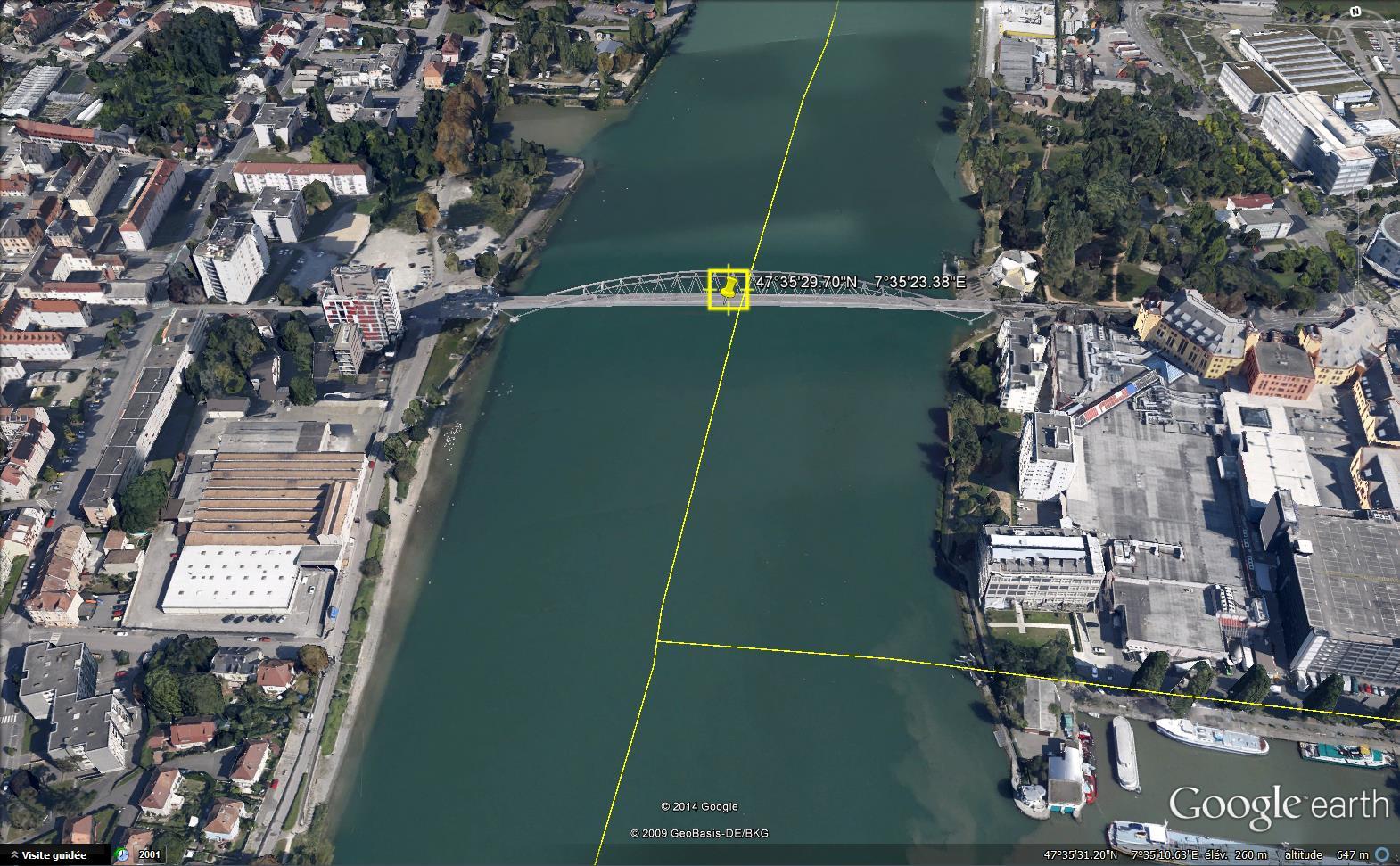 Les ponts du monde avec Google Earth - Page 16 763807passerelledes3pays