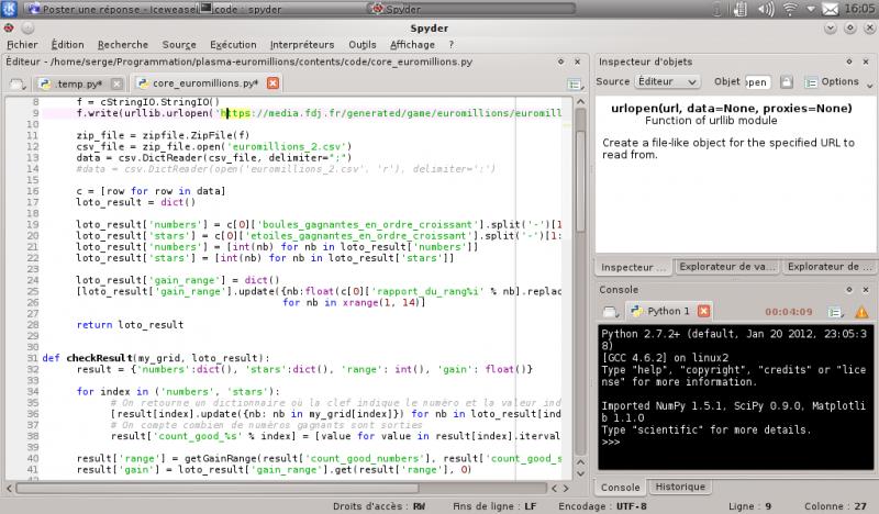 [Python]Spyder, le super éditeur de code, et aide au debug 763939spyder