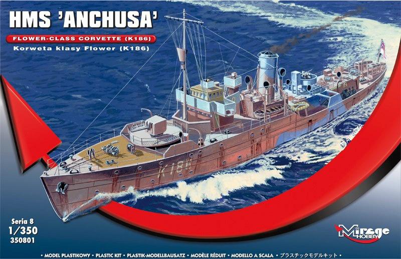 Corvette HMS Anchusa  767675MirageHobby1350FlowerClassCorvetteHMSAnchusa
