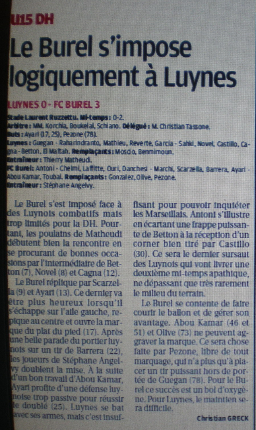 F .C .LE BUREL - Page 2 769622IMGP4057