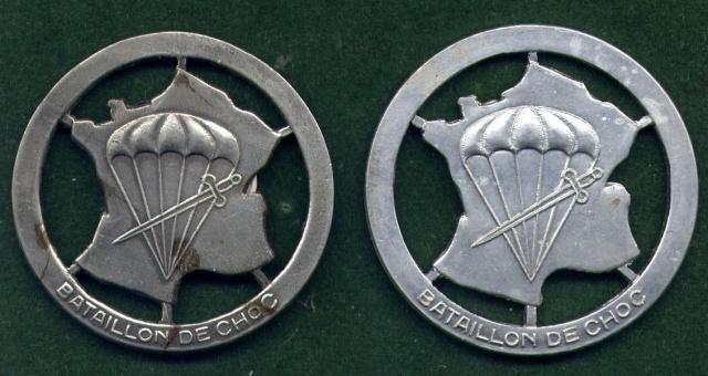 LES INSIGNES DU BATAILLON DE CHOC 1943/1963. 776038FDacieralu