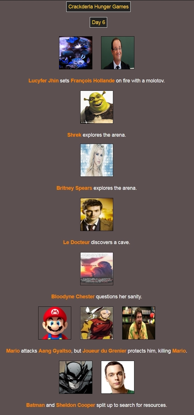 [Crackderla N°1] Hunger Games - Page 7 7773917Day6