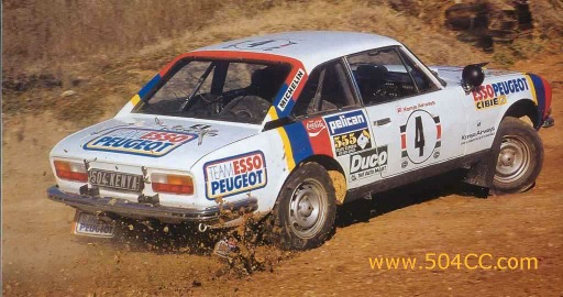 Peugeot 504 V6 Coupé Safari Rally 1978 789162ap5040010
