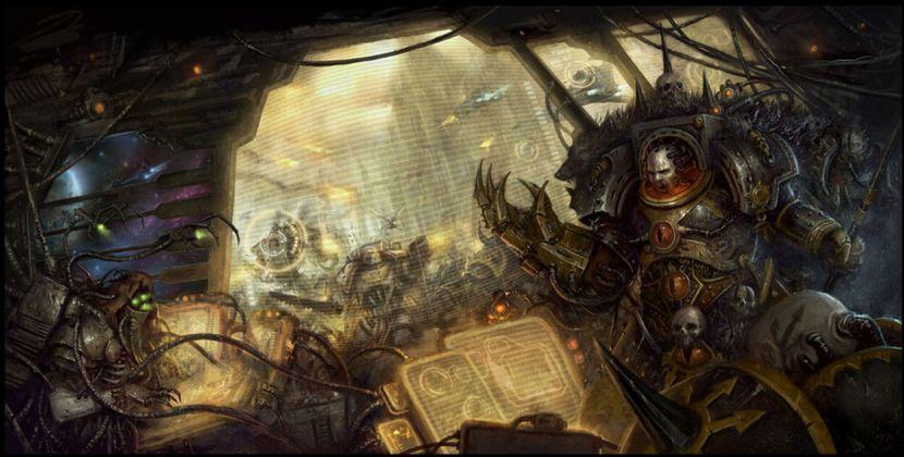 [Horus Heresy] Fanfiction : La Bataille de Terra (Projet et discussions) 797802WarmasterHorusonBridge