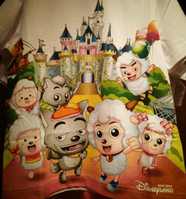 "(merchandising) ""The Pleasant Goat and Big Big Wolf"" arrive à Hong Kong Disneyland 798490hkdl6"