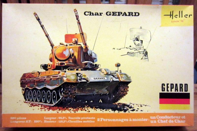 Char GEPARD  1/35ème Réf 820 811628HellerGpard820000