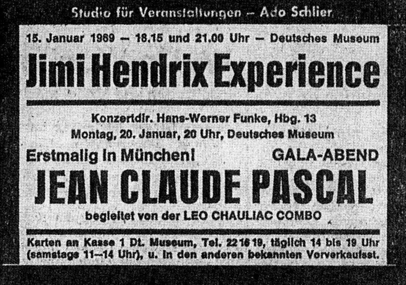 Munich (KongreBsaal Deutsches Museum) : 15 janvier 1969 [Second concert] 811904munichpress69