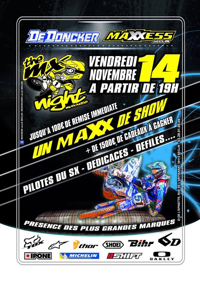 MX Nigth - MAXXESS - DE DONCKER- 14 nov 2014 814080afficheMaxxess