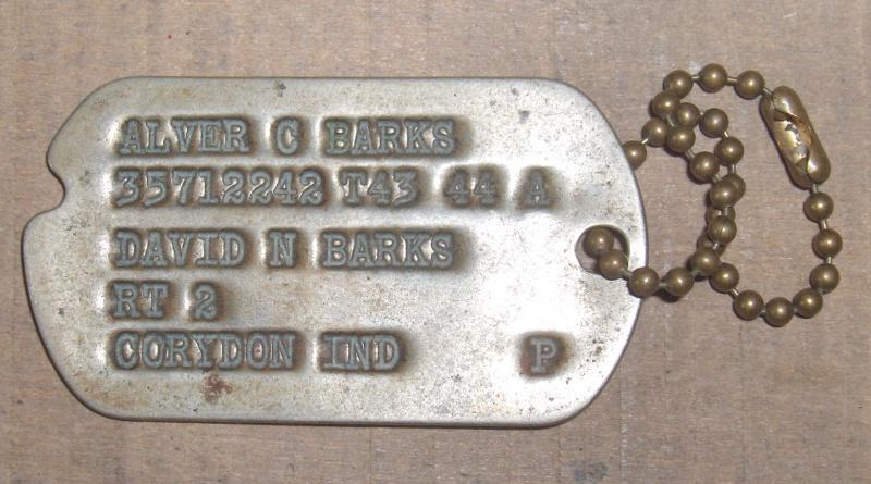 Les Dog Tag U.S. WWII 814626004