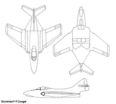 GRUMMAN F9F PANTHER  815399Grumman_F_9_Cougar_line_drawings