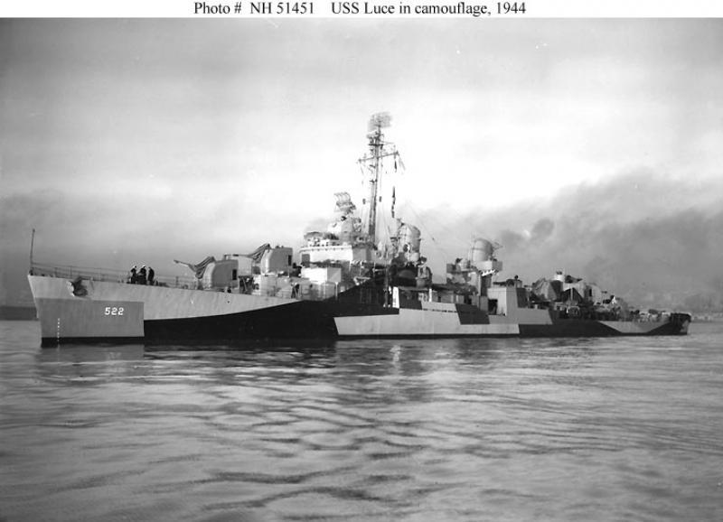 USS LUCE (Fletcher Class) 815755966111USSLuceDD522