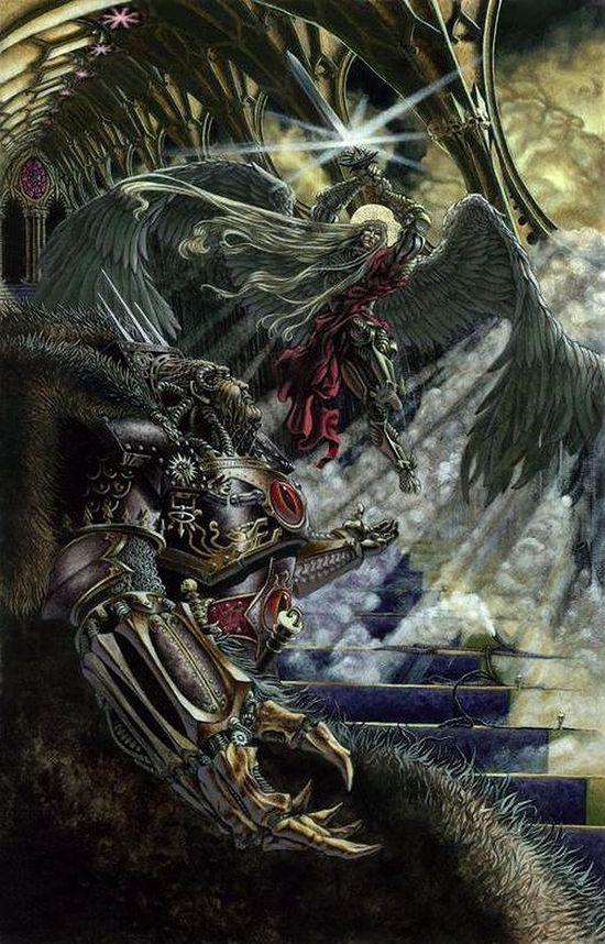 [Horus Heresy] Fanfiction : La Bataille de Terra (Projet et discussions) - Page 2 820848SanguiniusvsHorus