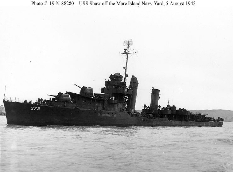USN DESTROYERS CLASSE MAHAN 829692USSShawaot1945