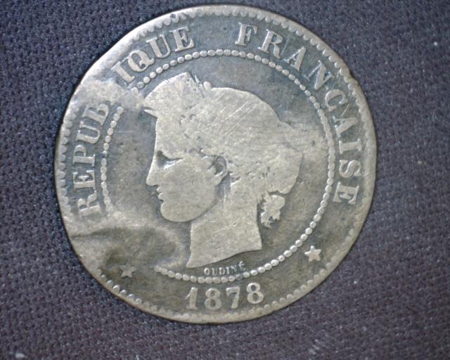 5 centimes 1878 K .... fracassée sniffff 831309Image94