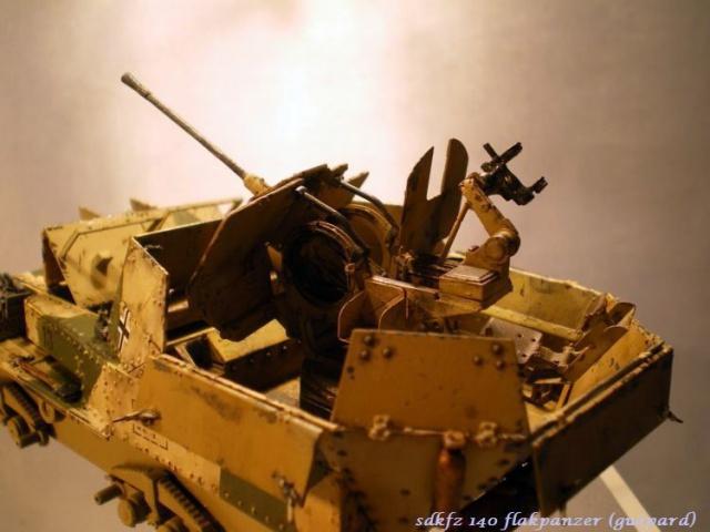 sd.kfz 140 flakpanzer (gépard) maquette Tristar 1/35 834122IMGP3208