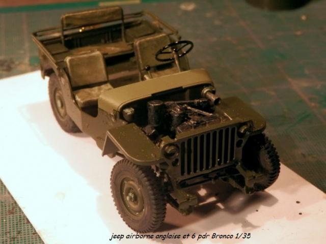 jeep indochine - 6 pdr ,jeep ,équipage airborne Bronco 1/35 (sur la route de Ouistreham) 842059P5030426