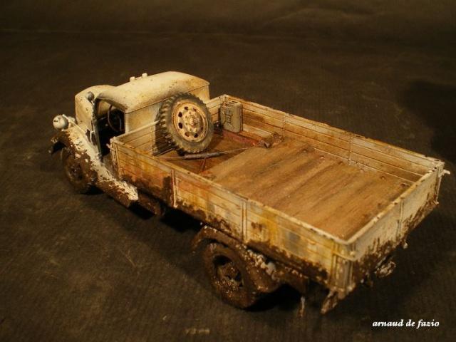 tracteur d artillerie soviétique chtz s-65 version allemande 1/35 trumpeter,tirant 2 blitz de la boue 842510IMGP1866