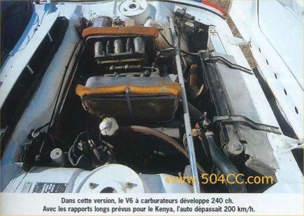 Peugeot 504 V6 Coupé Safari Rally 1978 844655ap5040012