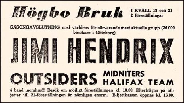 Hogbo (Popladan) : 8 septembre 1967 [Premier concert]  8452400809582