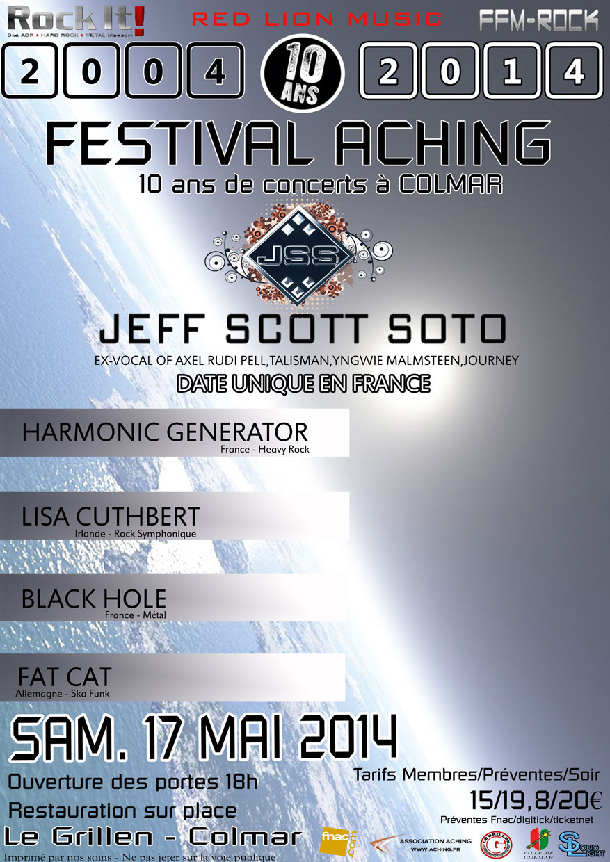 JEFF SCOTT SOTO+HARMONIC GENERATOR+BLACK HOLE THE RED BARONS 846129Affiche4