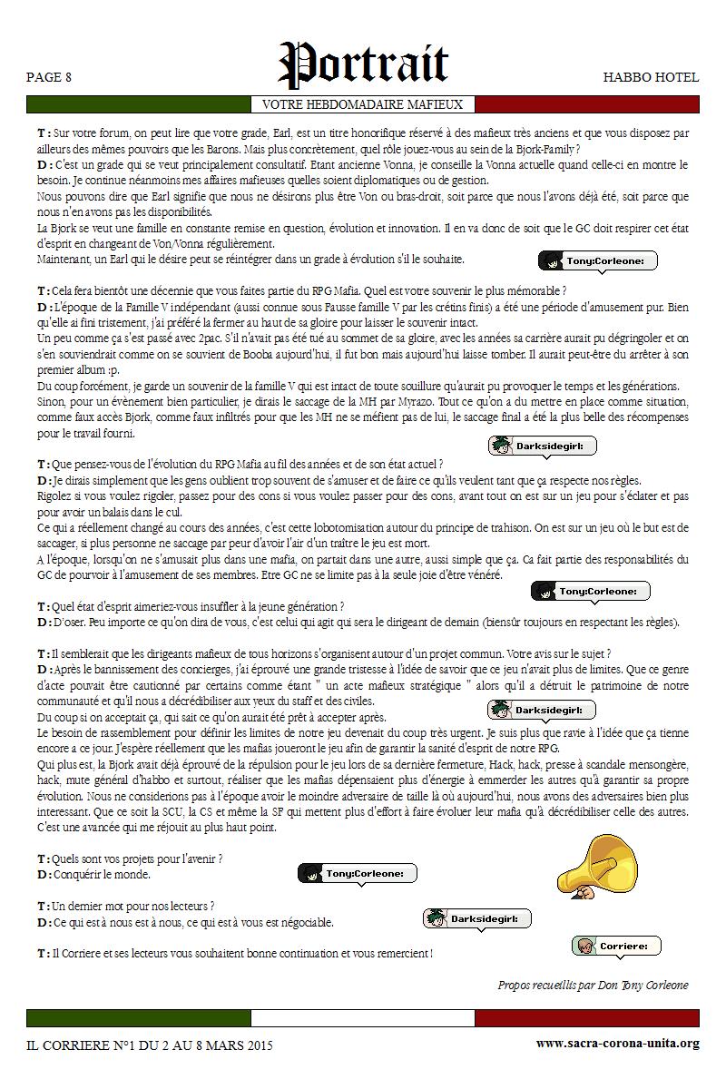 Il Corriere N°1 du 2 au 8 mars 2015 848546Portrait3