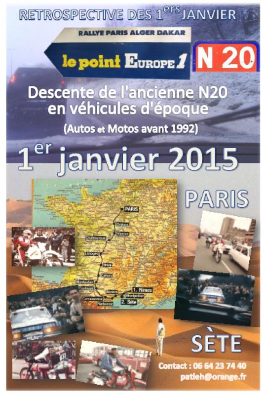 Retrospective descente ancienne nationale 20 Paris Dakar 28 décembre 2016 848970affiche01