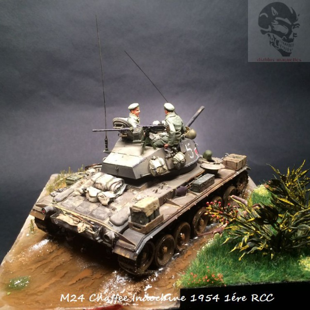 M24 Chaffee Indochine 1954 1ére RCC  851522IMG3741