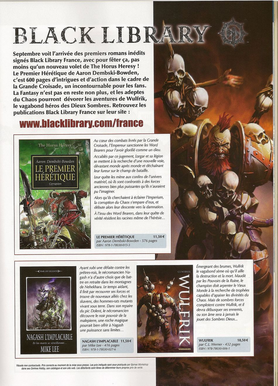Sorties Black Library France Septembre 2011 856104BLFSept2011