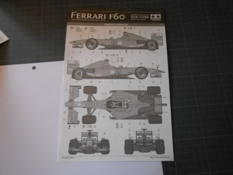 Ferrari F60 1/20 Tamiya 858130F60010