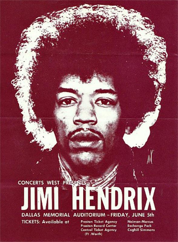 Dallas (Memorial Auditorium) : 5 juin 1970  859469HendrixatMemorial