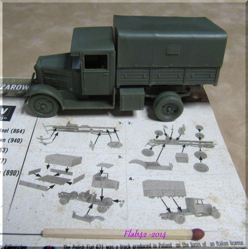 Camion Fiat 621 dans l'armée Polonaise - First to flight - 1/72ème 864713676