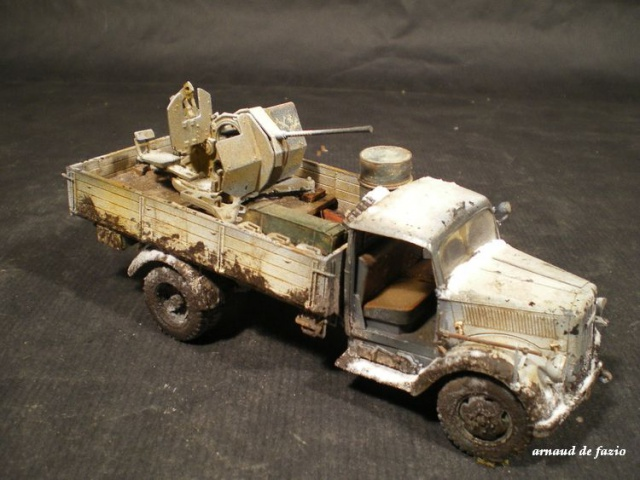 tracteur d artillerie soviétique chtz s-65 version allemande 1/35 trumpeter,tirant 2 blitz de la boue 867738IMGP1879