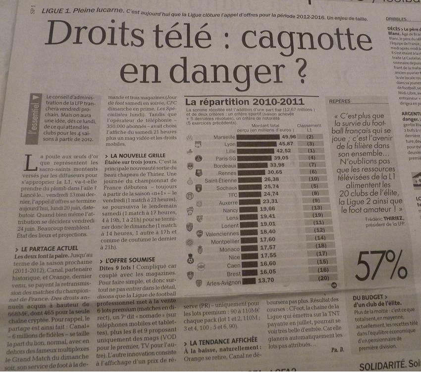 CHAINES DE  FOOT A LA TELE  : CFOOT/ C+ TF1 M6 ET LES AUTRES  - Page 2 873141P1180798