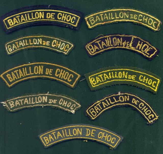 LES INSIGNES DU BATAILLON DE CHOC 1943/1963. 876892File0039