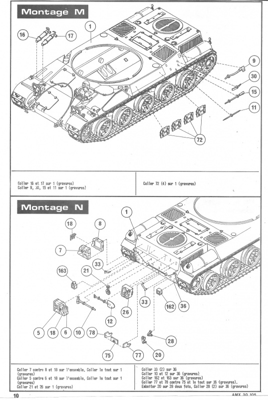 AMX 30 canon de 105 1/35ème Réf L 810 879321HellerAMX30105810010