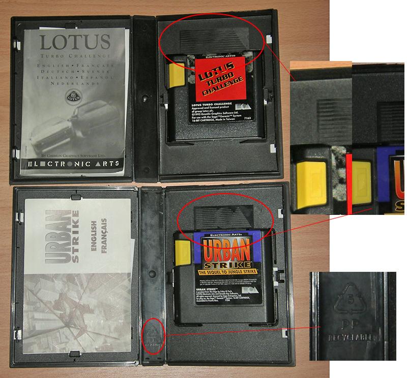 Les differents boitiers de jeux Megadrive 879955sega2variantesEA