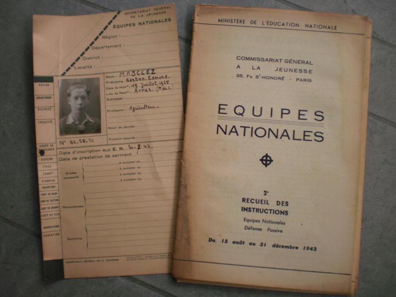 Les Equipes Nationales du Régime de Vichy 881095P5212077