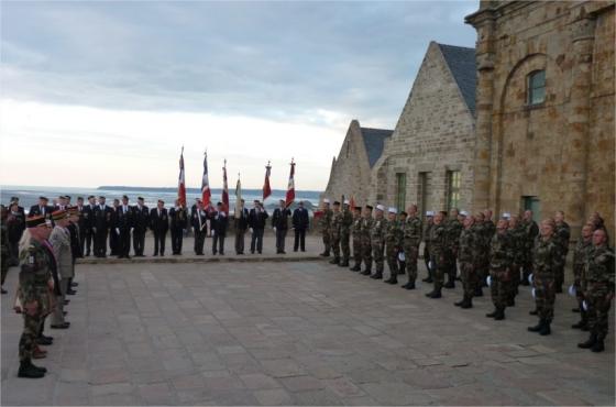 Remise de Képi Blanc au Mont Saint Michel 888006remiseKB