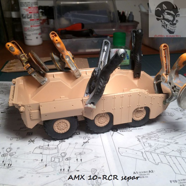 AMX 10 RCR SEPAR maquette Tiger Model 1/35 888160IMG3768