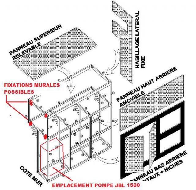 SUR MESURE: Démarrage bac encastré et son meuble. 889545Pompe_et_fixations