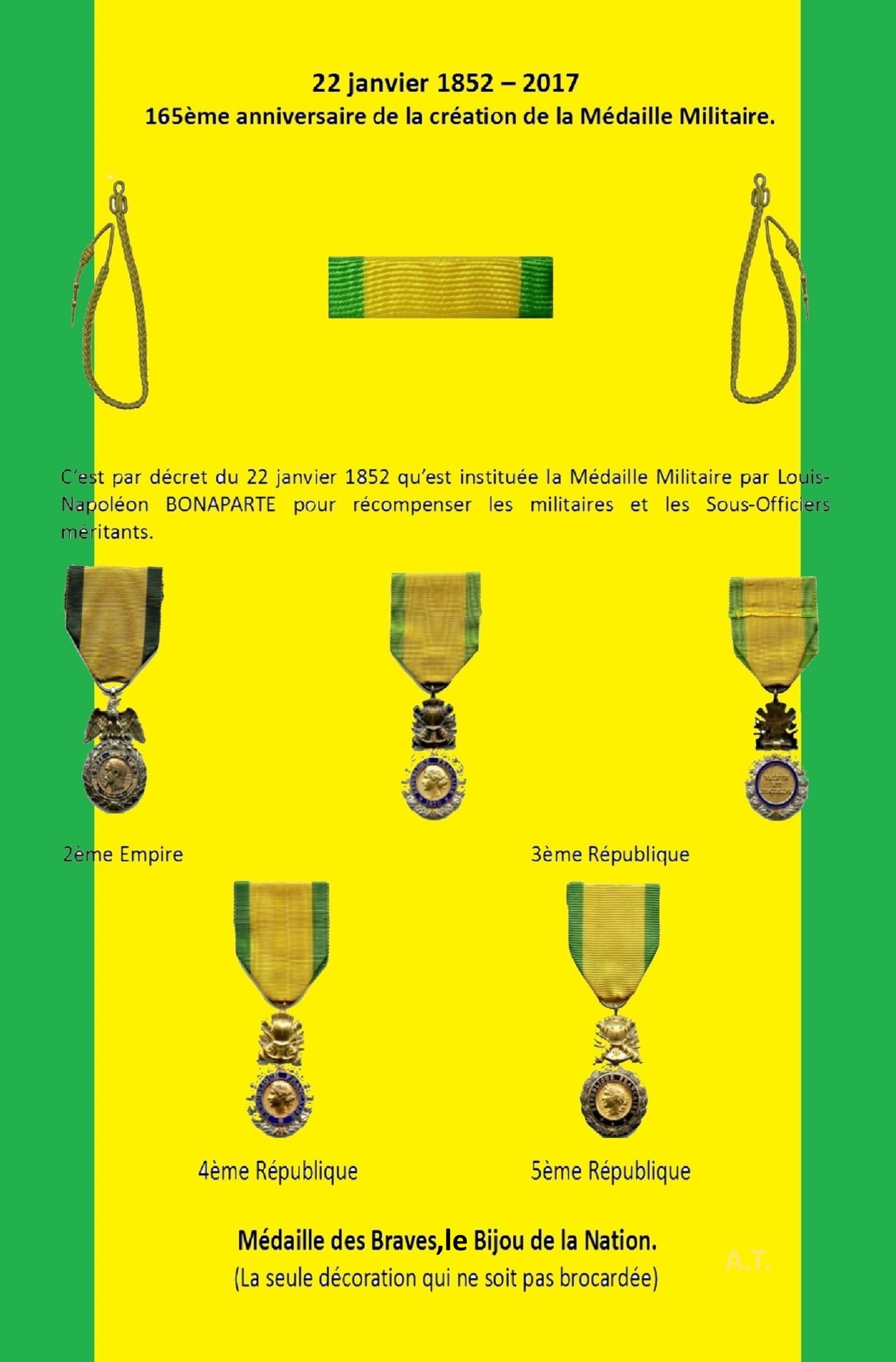 La Médaille Militaire - Page 2 889775creationdelamedaillemilitaire22janv1852