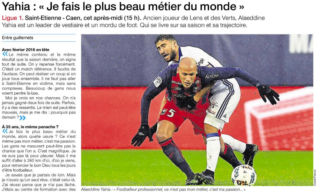 [27e journée de L1] AS Saint Etienne 0-1 SM Caen 891431yahia
