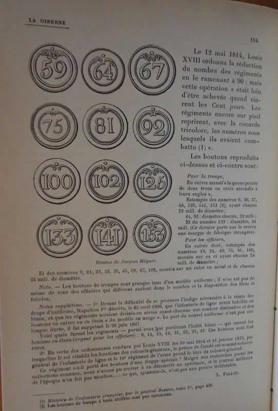 les boutons de l'infanterie de ligne 1804 - 1815 895449DSC01838