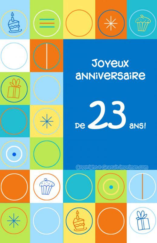 عيد ميلاد الأخت لبنى (23) 902743carteanniversaire23ansgratuiteimprimer