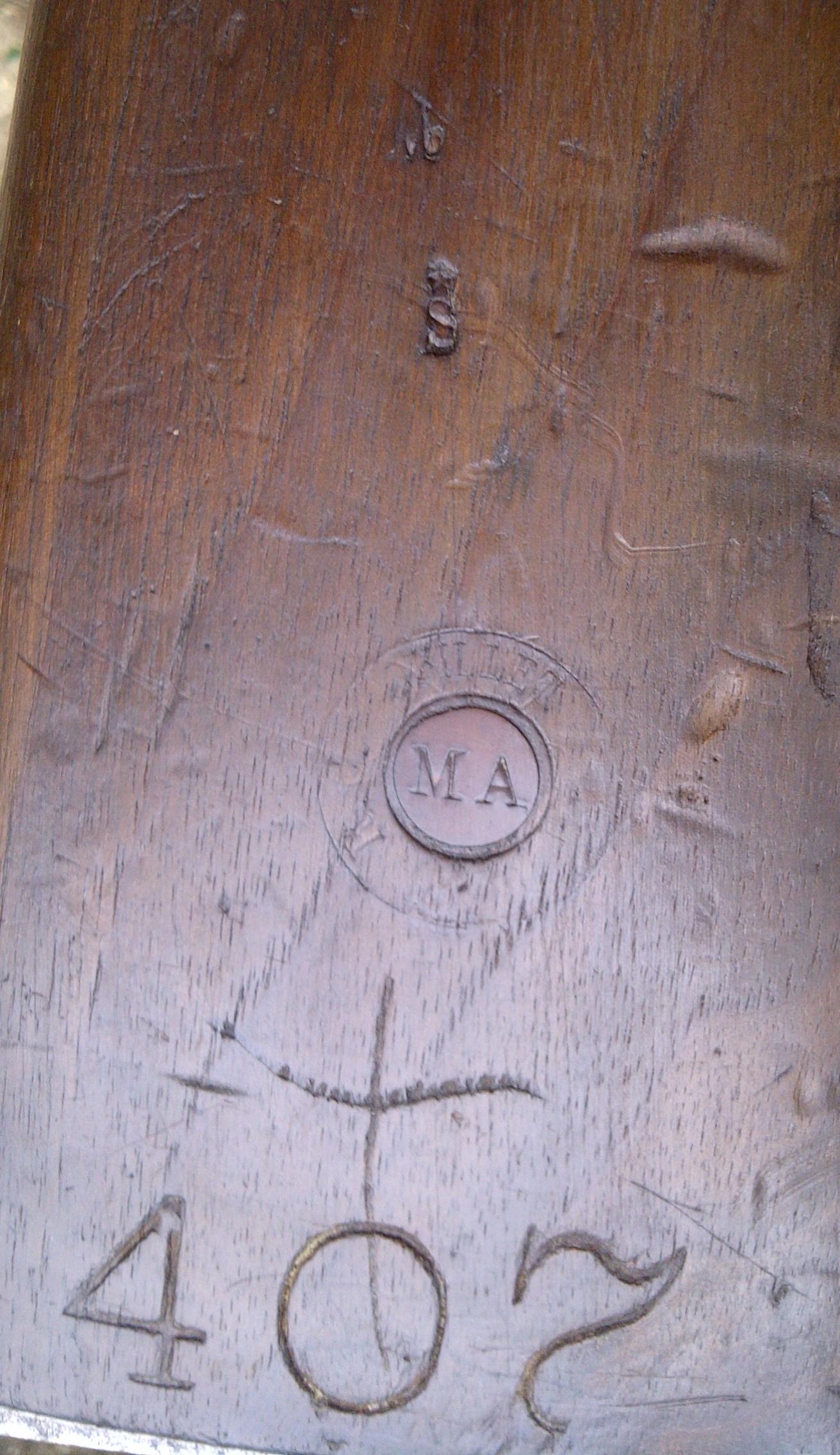 poinçons à identifier sur le bois d'un Gras 1874/80 modifié 14 903142gras2