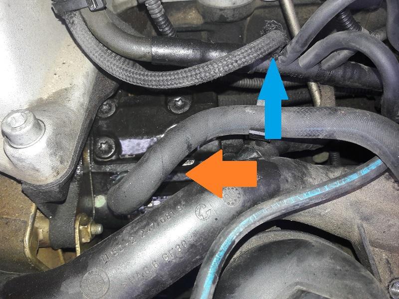 [BMW 530 d E39] Réparation raccord canneler sur pompe HP 90683220170128153152