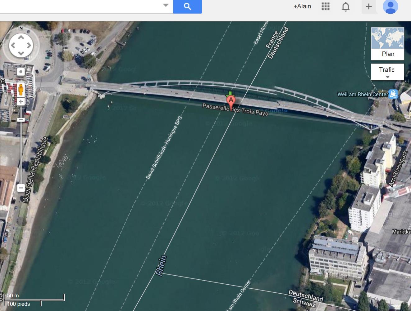 Les ponts du monde avec Google Earth - Page 16 907802passerelledes3pays1